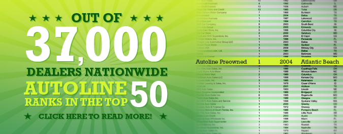 Autoline Ranked Top 50 out of 37,000!