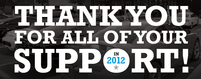 Thank You for all of your support in 2012!