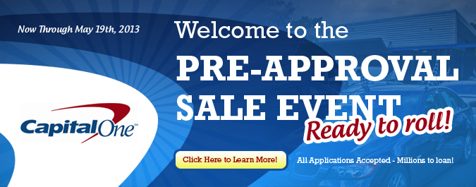 Capital One Pre-Approval Sale Event at Autoline!