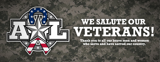 We Salute Our Veterans, Active Duty, & Reserve!